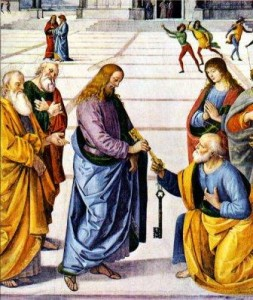 Peter Receives the Keys to the Kingdom (Perugino, 1481)